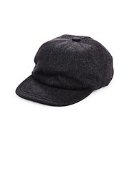Saks Fifth Avenue Wool And Cashmere Blend Baseball Cap Grey