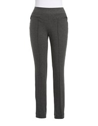 Rafaella Petite Straight Legged Dress Pants Charcoal