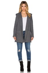James Perse French Terry Hooded Coat Gray