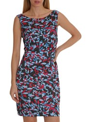 Betty And Co. Graphic Print Dress Blue Red