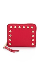 Rebecca Minkoff Mini Ava Zip Wallet Cherry