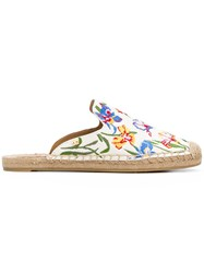Tory Burch Embroidered Espadrille Slippers Multicolour