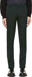 Richard Nicoll Forest Green And Teal Easy Fit Chinos