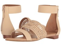Tahari Dorm Dove Silk Leather Women's Sandals Beige