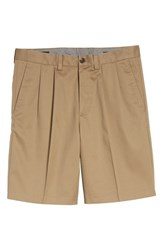 Nordstrom Big And Tall Men's Shop Smartcare Tm Pleated Shorts Taupe