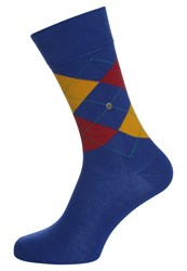 Burlington King Socks Marine Blue