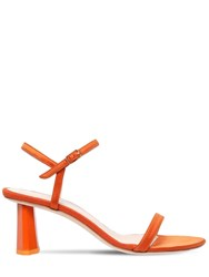 By Far 60Mm Magnolia Silk Satin Sandals Orange