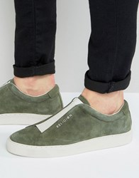 Religion Gusset Suede Trainers Green