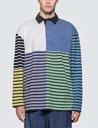 J.W.Anderson Jw Anderson Patchwork Rugby Jersey L S Polo Shirt