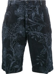 Etro Floral Printed Bermuda Shorts Blue