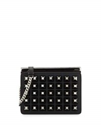 Fendi Demi Jour Studded Crossbody Bag Black