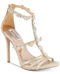 Badgley Mischka Thelma Ii Strappy Evening Sandals Women's Shoes Platino