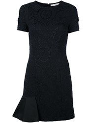 Amen Jacquard Mini Dress Black