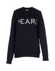 Pinko Topwear Sweatshirts Women Dark Blue