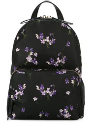 Red Valentino Floral Print Backpack Black