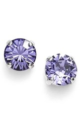 Women's L. Erickson 'Grace' Crystal Stud Earrings Tanzanite Silver