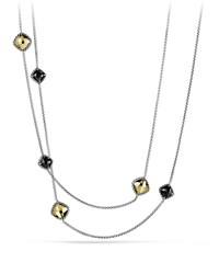 Chatelaine Chain Necklace With Black Onyx And Gold David Yurman