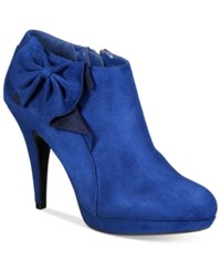 Impo Portia Bow Booties Women's Shoes Blue