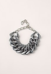 Missguided Matte Chunky Chain Bracelet Silver