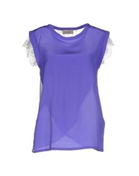 Ki6 Who Are You Shirts Blouses Women Purple