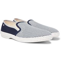 Rivieras Maltese Falcon Cotton Mesh And Canvas Espadrilles Blue