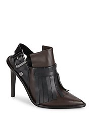 Tibi Glynnis Leather Keltie Booties Brown Black
