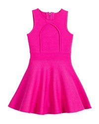 Milly Minis Sleeveless Knit Fit And Flare Dress Fuchsia Pink