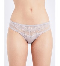 Chantelle Idole Brazilian Lace Briefs Mineral Grey
