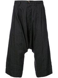 Ziggy Chen Striped Relaxed Trousers Black
