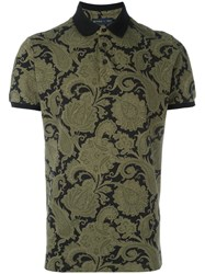 Etro Arabesque Print Polo Shirt Black