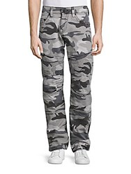 True Religion Slim Fit Moto Jeans Grey Camo