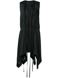 Vera Wang Plunge Mini Dress Black