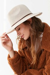 Urban Outfitters Nubby Woven Panama Hat Tan