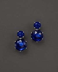 Ippolita Sterling Silver Rock Candy 2 Stone Post Earrings In Lapis And Midnight Blue