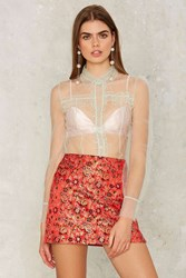 Nasty Gal Collection Cherry Picked Floral Skirt Red