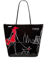 Macy's Walking Dog Large Tote Only At Black