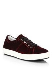 Madison Supply Velvet Low Top Sneakers Burgundy