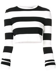 Marc Jacobs Stripe Print Sweater Black