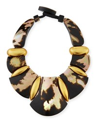 Viktoria Hayman Belissima Statement Necklace Leopard