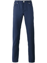 Brunello Cucinelli Straight Trousers Blue