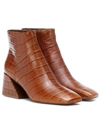 Mercedes Castillo Jimme Leather Ankle Boots Brown
