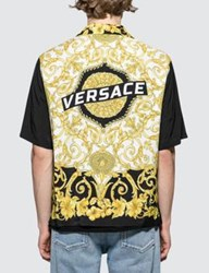 Versace Feather Print S S Shirt