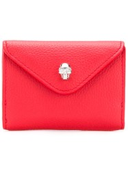 Alexander Mcqueen Flap Wallet Red