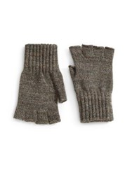 Barbour Fingerless Wool Gloves Grey