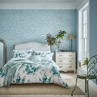 Sanderson Delphiniums Duvet Cover Mint Blue