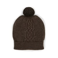 Barneys New York Ribbed Wool Cashmere Beanie Dark Gray