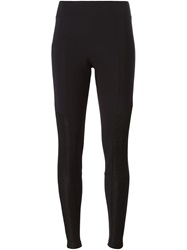 Lost And Found Panelled Leggings Black