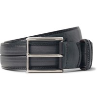 Berluti 3.5Cm Grey Gaspard Leather Belt Dark Gray