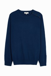 Paul And Joe Cashmere Crew Neck Jumper Navy