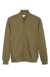 J.Crew French Terry Bomber Jacket Loden Green